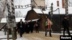 Бывший концлагерь Освенцим (Аушвиц), Польша. 27 января 2019 г.