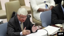 FILE - Hervé Ladsous, head of U.N. Peacekeeping Operations, October 6, 2011.