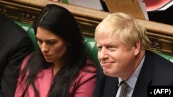 Priti Patel Boris Johnson