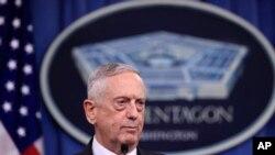امریکی وزیرِ دفاع جِم میٹس (فائل فوٹو)