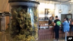 Para konsumen AS membeli marijuana di sebuah toko medis marijuana di San Francisco, California (foto: dok).