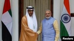 بھارت کے وزیر اعظم نے ایوارڈ سے نوازے جانے پر اماراتی حکام کا شکریہ ادا کیا ہے۔ (فائل فوٹو)