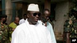 Le président gambien sortant Yahya Jammeh, 22 septembre 2006.