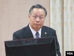 台湾国防部长严明上将(资料照片)