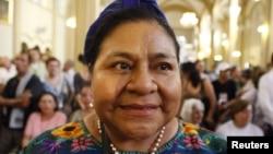 La premio nobel se reunió con la ministra de Exteriores venezolana, Delcy Rodríguez, en la sede de la Cancillería en Caracas.