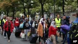 Des migrants dans le nord de Paris, 16 septembre 2016.