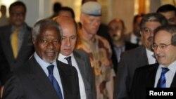 联合国特使安南7月8日在大马士革的一家酒店