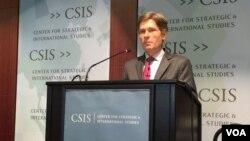 미 국무부의 톰 말리노스키 차관보가 지난 2월 19일 COI 최종 보고서 발표 2주년 기념토론회에서 연설하고 있다. (자료사진)