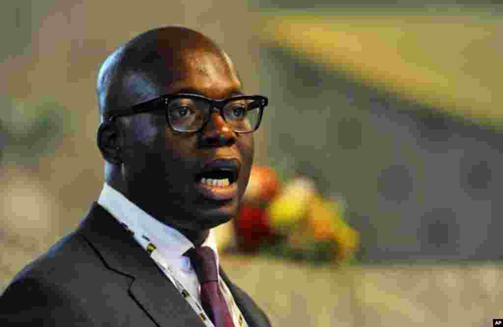 Oando Oil's Managing Director Wale Tinubu attends an Oil and Gas conference in Nigeria's capital Abuja February 21, 2012.
