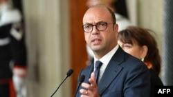 Le ministre italien des Affaires étrangères Angelino Alfano, le 11 janvier 2018.