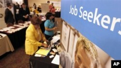 A job recruitment event near Pittsburgh, Pennsylvania in July.
