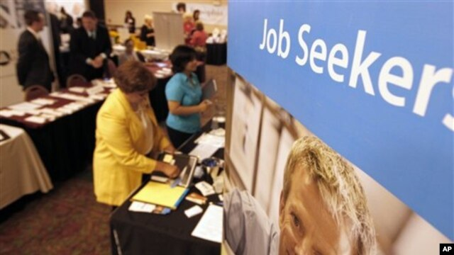 A job recruitment event near Pittsburgh, Pennsylvania in July.