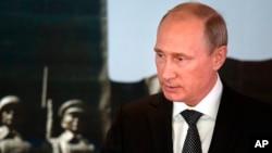 Presiden Rusia Vladimir Putin saat melakukan kunjungan di Ulan Bator, Mongolia (3/9).