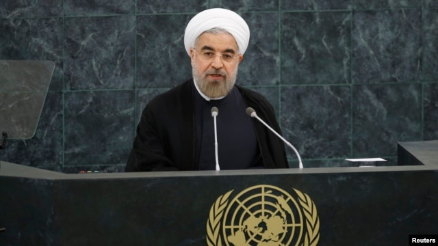 Iran's President Hassan Rouhani addresses the 68th United Nations General Assembly at UN headquarters in New York, September 24, 2013.