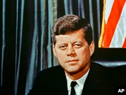 FILE - U.S President John F. Kennedy is seen in a 1963 portrait.