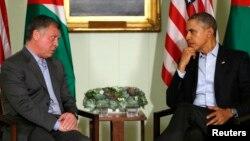 Король Иордании Абдулла и Барак Обама
