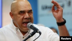 Jesus Torrealba, secretario ejecutivo de la coalición opositora venezolana, Mesa de la Unidad Democrática (MUD).
