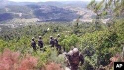 6月29号叙利亚在其和土耳其边界部署军人