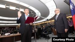 台北市長柯文哲12月25日連任就職(台北市政府提供)