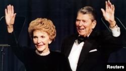 第40任美國總統羅納德里根夫婦2001年資料照。