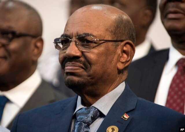 FILE - Sudanese President Omar al-Bashir is seen during the opening session of the AU summit in Johannesburg, June 14, 2015.