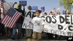 Демонстрация иммигрантов около Белого дома (Фото из архива)