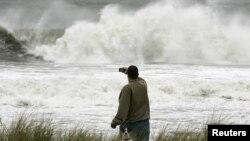 Высота волн в Оушн-Сити, Нью-Джерси. 28 октября 2012 года