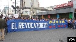 Estudiantes venezolanos realizaron una marcha de protestas en anticipación a la Toma de Caracas que se realizará el 1 de septiembre.
