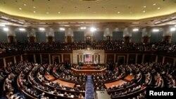 美国国会联席会议。(2017年2月28日)