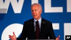 Kandidat terdepan Partai Demokrat saat ini, mantan Wakil Presiden Joe Biden dalam acara kampanye dan penggalangan dana di Atlanta, Georgia (foto: dok).