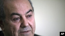 Former Iraqi prime minister Ayad Allawi (file photo)