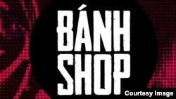 Logo mới có thêm dấu sắc trong chữ 'Banh Shop' màu trắng trên nền đen.