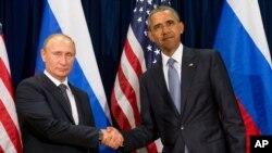 Vladimir Poutine et Barack Obama lors d'une rencontre à l'ONU, en septembre 2015