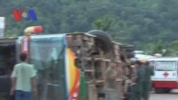 A Bus Crash Killed Two Foreign Tourists (Cambodia news in Khmer)