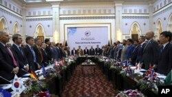 گزشتہ سال جون میں کابل میں ہونے والی کابل پراسس کانفرنس کا ایک منظر جس میں افغانستان میں مفاہمت کے لیے کی جانے والی کوششوں کا جائزہ لیا گیا (فائل فوٹو)