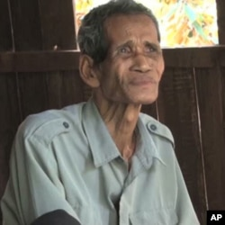 Seventy-one-year-old Som Chhorm denies allegations that he was a low-level Khmer Rouge official responsible for atrocities in the 1970s.