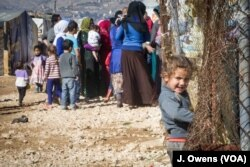 Lebanon's Bekaa Valley is home to an estimated 371,000 refugees. There are a total of 1.1m refugees registered in Lebanon, but the actual number is thought to be considerably higher.