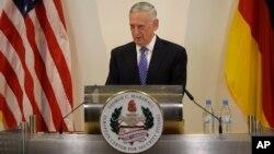 El secretario de Defensa de EE.UU., Jim Mattis, pronunció un discurso con motivo del 70 aniversario del Plan Marshal en el centro George C. Marshal en Alemania, el miércoles, 28 de junio de 2017.