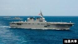 일본 자위대 해병대가 중국과 분쟁 해역인 동중국해를 항해하고 있다. (자료사진)