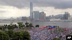 親中派在香港集會支持警方慶祝回歸(2019年6月30日)