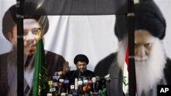 什叶派教士萨德尔返国后周六第一次公开露面