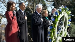 Мишель и Барак Обама, Билл и Хиллари Клинтон
