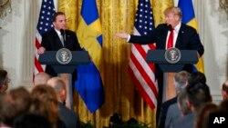 Shugaba Trump na Amurka da Firayi Ministan Sweden Stefan