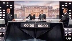 Fransoa Oland i Nikola Sarkozi na nedavnoj debati