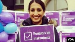 نسیمه رزمیار میخواهد ازطریق پارلمان فنلند برای قدرتمند سازی زنان افغان کارکند