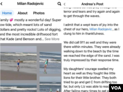 Objave na Fejsbuku o Milanovom spasavanju dece iz okeana