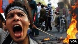کراچی میں تشدد آمیز مظاہرے