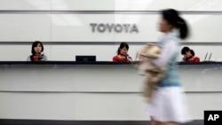 일본 도쿄의 도요타 자동차 회사 본부 건물. (자료사진)