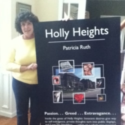 Patricia Ruth, author of 'Holly Heights,' found marketing her self-published book more challenging than writing it.