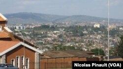 Vue de Kigali (VOA/ Nicolas Pinault).